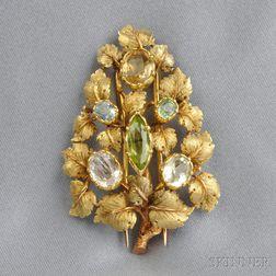 18kt Gold Gem-set Clip Brooch, Mario Buccellati