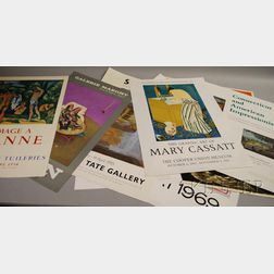 Ten Assorted Exhibition Posters