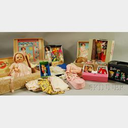Seven Boxed Doll Sets including Barbie, Skipper, Tutti, and Dy-Dee Dolls