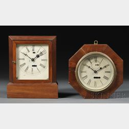 Two Mahogany S. B. Terry Torsion Pendulum Timepieces
