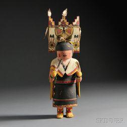 Hopi Polychrome Carved Wood Kachina