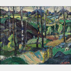 Leighton R. Cram (American, 1895-1981)      Landscape