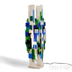 Geometric Plastic Panels Table Lamp