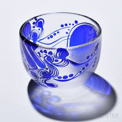 Bertil Vallien Glass Bowl for Boda-Afors