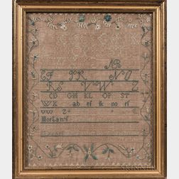 "Needlework Sampler ""Mary Morgan,"""