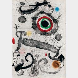 Joan Miró (Spanish, 1893-1983)      L'astre du marécage