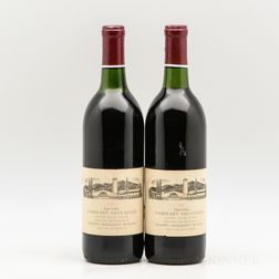 Robert Mondavi Winery Cabernet Sauvignon Reserve 1975, 2 bottles