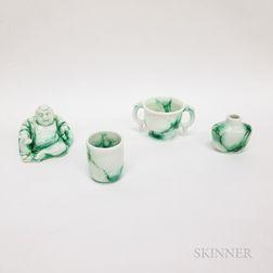 Four Royal Doulton Charles Noke Chinese Jade Items