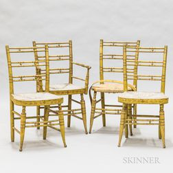 Set of Four Fancy Chairs