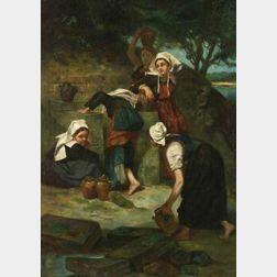 Henry Herbert La Tangue (British, 1859-1929)  At the Well