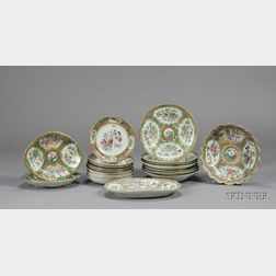 Twenty-three Chinese Export Porcelain Table Items