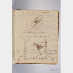 Donnison, Joseph (1788-1825) Manuscript College Mathematics Notebook from Harvard, pre-1807.