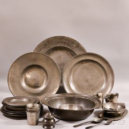 Group of Pewter Tableware