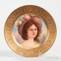 Vienna Porcelain Portrait Plate