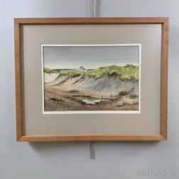 Jack Garver (Maryland/Massachusetts, 20th/21st Century)    Sand Dunes in Chatham
