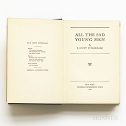 Fitzgerald, F. Scott (1896-1940) All the Sad Young Men.