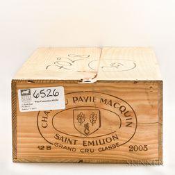 Chateau Pavie Macquin 2005, 12 bottles (owc)