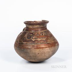 Pre-Columbian Polychrome Pottery Jar