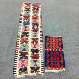Two Anatolian Kilim Border Fragments