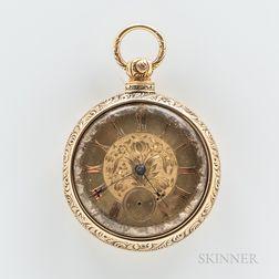 18kt Gold Pair-case Watch