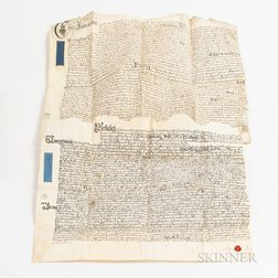 Two 18th Century English Indenture and Marriage Documents