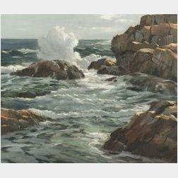 Charles Gordon Harris (American, b. 1891)  Newport Coastal View