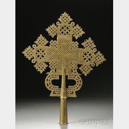Abyssinian Coptic Brass Cross