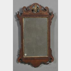 Chippendale Walnut Carved and Incised Parcel-gilt Mirror