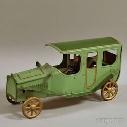 Vintage Pressed Steel Friction-driven Touring Car