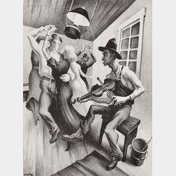 Thomas Hart Benton (American, 1889-1975)      I Got a Girl on Sourwood Mountain