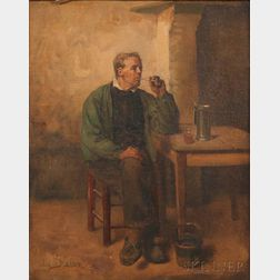 Jules Adolphe Aimé Louis Breton (French, 1827-1906)      Contentment