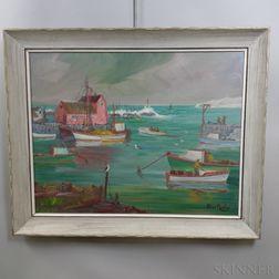 Peter Koster (Massachusetts, 1891-1978)    Rockport Harbor Scene