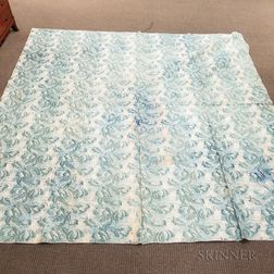 Botanical-printed Cotton Wholecloth Quilt