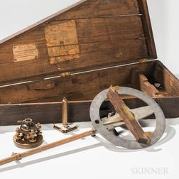 "Heller & Brightly ""Sun Flower"" Surveyor's Instrument"