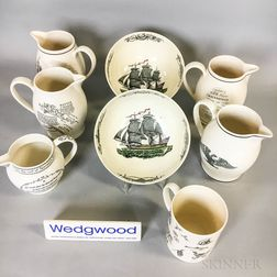 Nine Wedgwood Queensware Ceramic Items