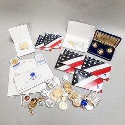 Large Group of Mostly American Mint Collectors Medallions