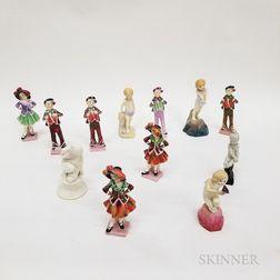 Twelve Royal Doulton Ceramic Figures