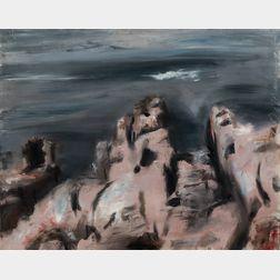 Edwin Dickinson (American,1891-1978)      Pink Rocks, Coast, La Cride