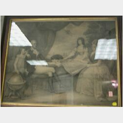 Walnut Framed Print The George Washington Family.