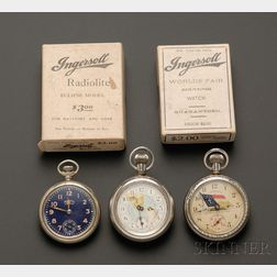 "Three ""Dollar"" Watches by Ingersoll"