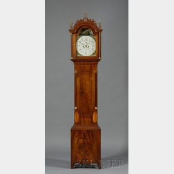 Mahogany Inlaid Tall Clock