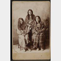 Cabinet Card of Three Indian Girls