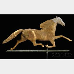 Gilt Copper and Zinc Ethan Allen Running Horse Weathervane