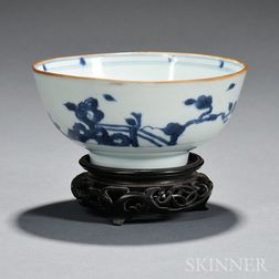 Blue and White Porcelain Bowl with Stand