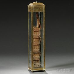 """""""Modle Jury Rudder"""" in a Brass and Glass Case"""