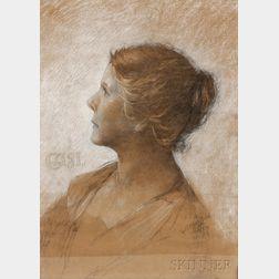 Edwin Howland Blashfield (American, 1848-1936)    Gigi  /A Profile