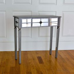 Art Deco-style Mirrored and Silver-gilt Pier Table