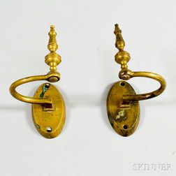 Pair of Brass Jam Hooks