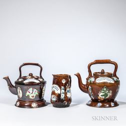 Three Measham Bargeware Items