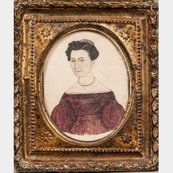 Caroline Hill (Peterborough, New Hampshire, c. 1837)      Portrait of Selinda Hill